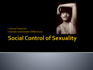 Sexual Coercion Gender and Gender Differences 