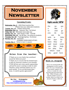 November Newsletter  Sight words/ HFW