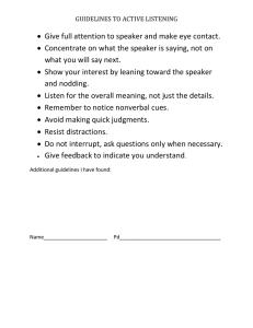 Speaker Evaluation Form