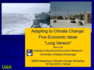 "Adapting to Climate Change: Five Economic Ideas ""Long Version"""