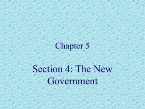 Section 4: The New Government Chapter 5