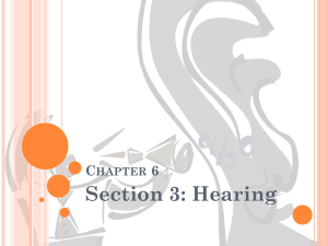 Section 3: Hearing C 6 HAPTER
