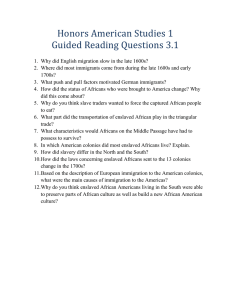 Honors American Studies 1 Guided Reading Questions 3.1