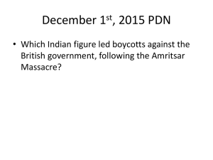 December 1 , 2015 PDN British government, following the Amritsar