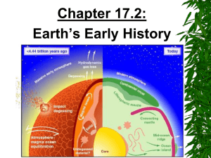 Chapter 17.2: Earth's Early History