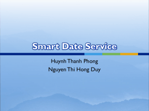 Smart Date Service Huynh Thanh Phong Nguyen Thi Hong Duy