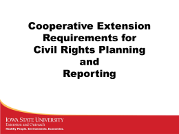 Cooperative Extension Requirements for Civil Rights Planning and