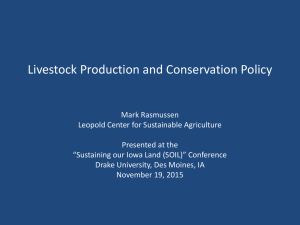 Livestock Production and Conservation Policy