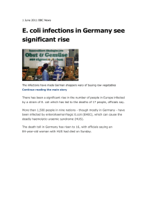 E. coli infections in Germany see significant rise