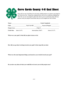 Cerro Gordo County 4-H Goal Sheet