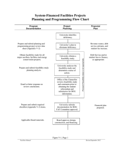 System-Financed Facilities Projects Planning and Programming Flow Chart