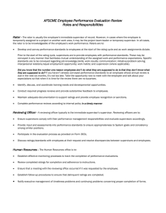 AFSCME Employee Performance Evaluation Review Roles and Responsibilities Rater -