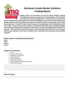 Buchanan County Master Gardener Funding Report