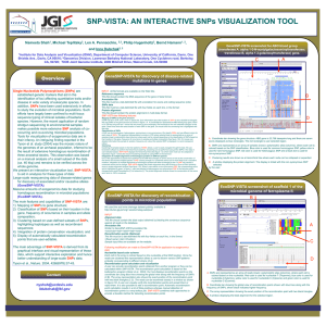 SNP-VISTA: AN INTERACTIVE SNPs VISUALIZATION TOOL
