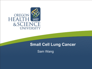 Small Cell Lung Cancer Sam Wang