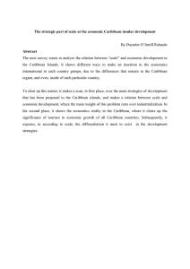 The strategic part of scale at the economic Caribbean insular... Abstract By Daymler O´farrill Rolando