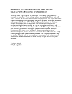 Resistance, Mainstream Education, and Caribbean Development in the context of Globalization
