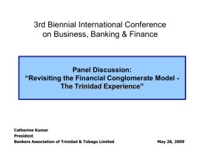 3rd Biennial International Conference on Business, Banking & Finance Panel Discussion: