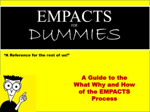 DUMMIES EMPACTS A Guide to the What Why and How
