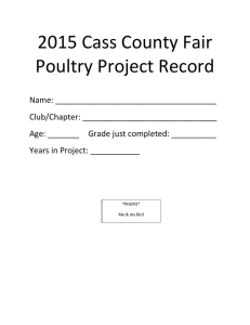 2015 Cass County Fair Poultry Project Record