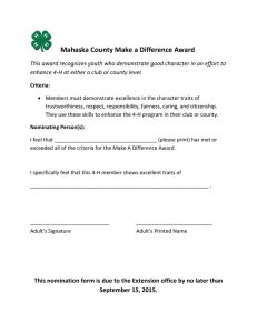 Mahaska County Make a Difference Award