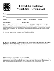 4-H Exhibit Goal Sheet Visual Arts – Original Art  Name