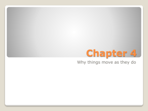 Chapter 4 Why things move as they do