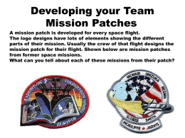 Developing your Team Mission Patches