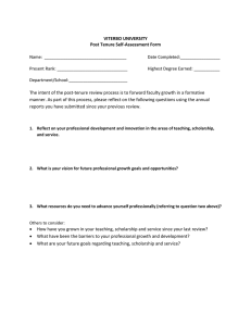 VITERBO UNIVERSITY Post Tenure Self-Assessment Form