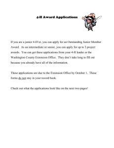 4-H Award Applications