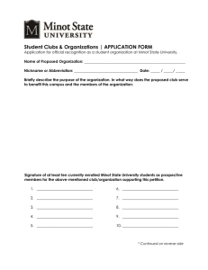 Student Clubs & Organizations | APPLICATION FORM