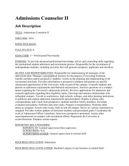 Transportation Supervisor Job Description