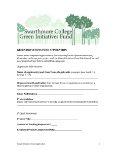GREEN INITIATIVES FUND APPLICATION