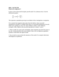 BIOL / MATH 2350 Homework assignment 3