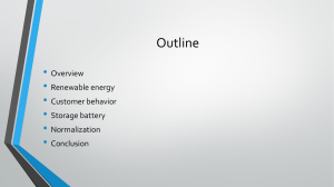 Outline • Overview Renewable energy