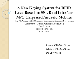 A New Keying System for RFID NFC Chips and Android Mobiles