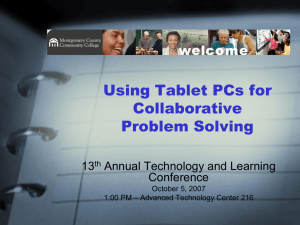 Using Tablet PCs for Collaborative Problem Solving 13