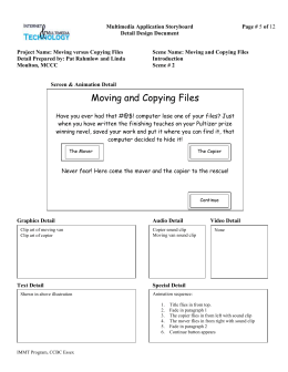 Multimedia Application Storyboard Page # Detail Design Document