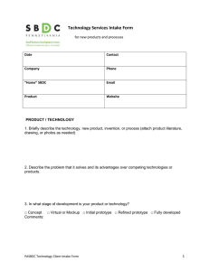 Technology Services Intake Form