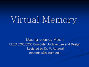 Virtual Memory Deung young, Moon ELEC 5200/6200 Computer Architecture and Design