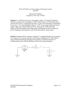 ELEC 6270-001 Low-Power Design of Electronic Circuits Fall 2007  Homework 4 Problems