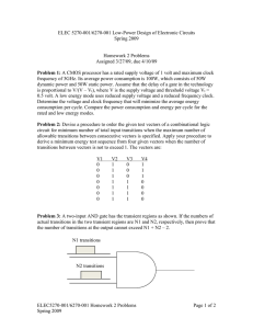 ELEC 5270-001/6270-001 Low-Power Design of Electronic Circuits Spring 2009  Homework 2 Problems