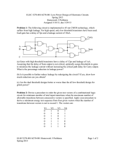 ELEC 5270-001/6270-001 Low-Power Design of Electronic Circuits Spring 2013 Homework 3 Problems
