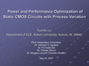 Power and Performance Optimization of Static CMOS Circuits with Process Variation