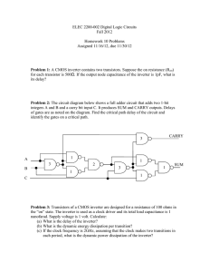 ELEC 2200-002 Digital Logic Circuits Fall 2012  Homework 10 Problems