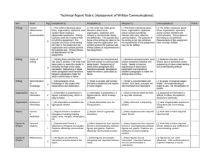 Technical Report Rubric (Assessment of Written Communications)