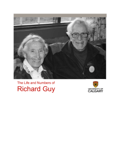 Richard Guy The Life and Numbers of