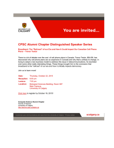 CPSC Alumni Chapter Distinguished Speaker Series