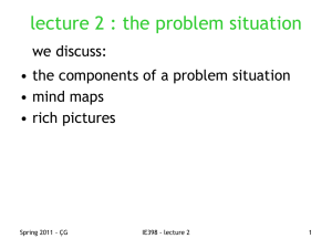 lecture 2 : the problem situation we discuss: • mind maps