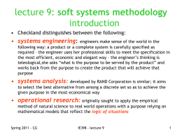 soft systems methodology introduction systems engineering :